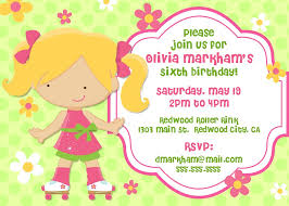 example birthday party invitation com wording perfect girl birthday party invitation card example for kids