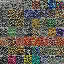 Wholesale Mixed <b>Natural</b> Gemstone Round Spacer Beads 4mm ...