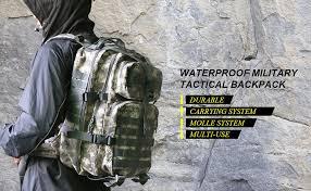 40L Waterproof Military Tactical Backpack - Vihir ... - Amazon.com