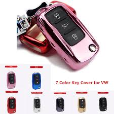 <b>KUKAKEY</b> 7 Colors Remote Smart <b>TPU Car</b> Key Case For VW Polo ...
