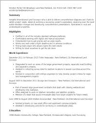 Professional International Land Surveyor Templates to Showcase ... Resume Templates: International Land Surveyor