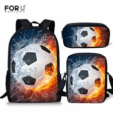 <b>FORUDESIGNS Children</b> School Bags for <b>Boys 3D</b> Ice and fire ...