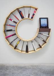 inspiring creative bookshelves design circular shape minimalist furniture bookshelf furniture design