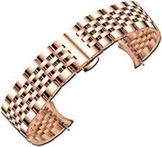 Men's Watchbands - 16 mm / Stainless Steel / Watch ... - Amazon.co.uk