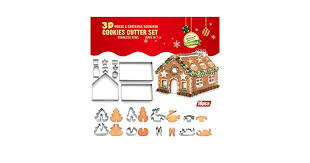 Bibettter <b>18 Pcs 3D Christmas</b> Cake Gingerbread House Cookie ...