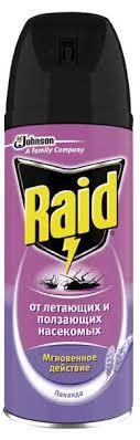 Купить <b>Аэрозоль</b> против <b>насекомых Raid</b> Лаванда, 300 мл с ...