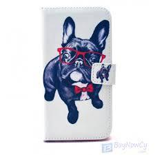 case for samsung galaxy s flip dog glasses galaxy s6 flip case dog glasses
