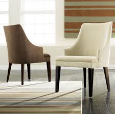 Arm Chair Dining Room Dining Room Chic Dining Room Chairs With Fabric White And Brown