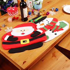 household dining table set christmas snowman knife: pcs set cm placemat dining christmas tables place mats pad tableware with napkin