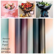20pcs aurora flower wrapping paper 60 60cm thickening waterproof floral shop diy wedding decoration supplies