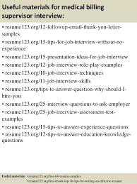 top 8 medical billing supervisor resume samples duties of medical biller