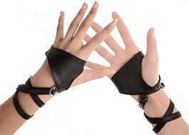<b>Women</b> Punk <b>Rivets</b> Half Finger PU <b>Leather</b> Performance <b>Gloves</b>