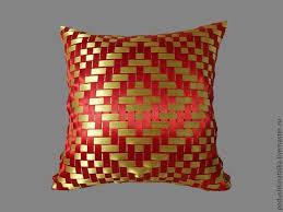 <b>Подушка с орнаментом</b> из атласных лент – заказать на Ярмарке ...
