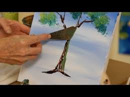 How to Use a <b>Palette</b> Knife   Acrylic <b>Painting</b> - YouTube