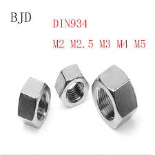 Online Shop <b>5pcs</b> DIN934 M14x11x22 14mm nut tainless steel ...