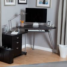 attractive home office design ideas with black fireproof file cabinet and desk on wooden floor which matched with gray wall plus gray curtains black home office laptop desk