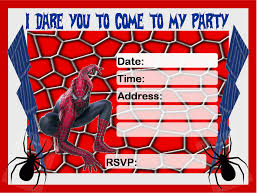 birthday invitation printable spiderman spiderman 4th birthday invitation printable spiderman