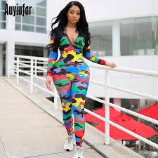 <b>Auyiufar</b> Holographic Patchwork Long Jumpsuit Zipper Front Long ...