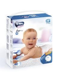 <b>Подгузники Aura BABY</b> для детей 4/L 7-14 кг <b>mega</b>-<b>pack</b> 64шт ...