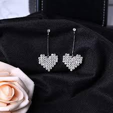 Amazon.com: <b>S925 Silver Needle</b> Hypoallergenic Diamond Tassel ...