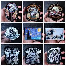 <b>Nicediy Rock Hippie</b> Motorcycle Patches For Clothing Iron On Patch ...