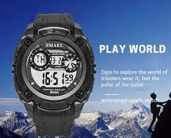 <b>Men Watches 50m Waterproof</b> SMAEL Top Brand LED Sport ...
