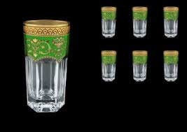 Empire Golden Green Decor <b>Набор стаканов для воды</b> 370 мл 6 шт