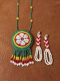 Native American <b>Amulet Seed Bead Necklace</b> & Earrings | <b>Украшения</b>