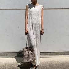 <b>Fashion</b> Pleated Women Sleeveless <b>Dress Summer 2021 Korean</b> ...