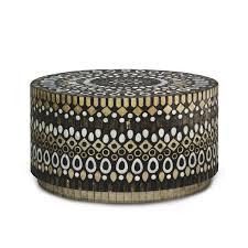 palecek maya coffee table zinc_door buy zina solidwood side table