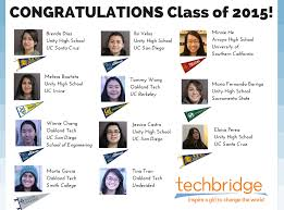 100% of techbridge girl graduates are off to college roundup of what advice do you have for first year college students here is what they said