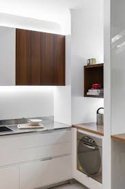Small Kitchen With Builtin Home Office Laundry Reddish