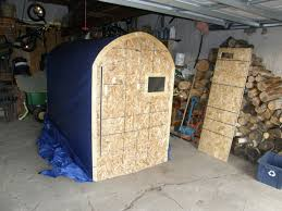 BWCA Homemade  portable collapsible ice hut    Boundary Waters    Here we are in the hut fishing on the Bay of Quinte  This hut is only X   but we squeezed four guys in there and it wasn    t bad