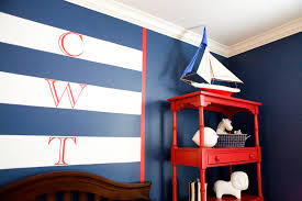 decor red blue room full: nautical baby room ideas awesome baby room decoration with dark brown wooden crib and red