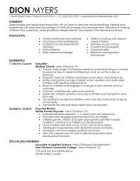 unforgettable babysitter resume examples to stand out    babysitter resume sample