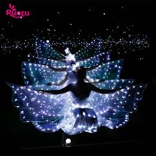 <b>Ruoru Belly Dance</b> Led Isis Wings with Adjustable Sticks ...