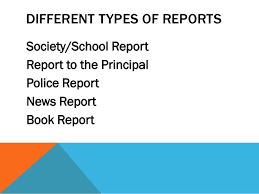 writing a report  tips and sample of reports