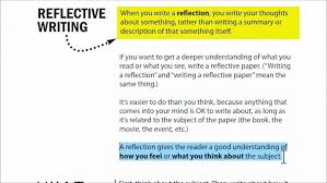 Writing A Reflection How To Write A Good Reflective Essay About Yourself How To Write A