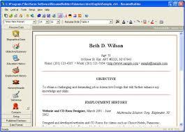 resume builder download free resume software resume builder software free download