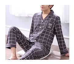Femaroly Pajamas <b>Mens Spring and Autumn</b> Sleep Set Cotton Long ...