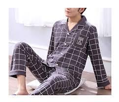 Femaroly Pajamas <b>Mens Spring and Autumn</b> Sleep Set Cotton Long ...