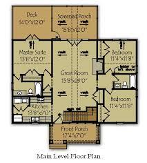 Bedroom Lake Cabin Floor Plan   Max Fulbright DesignsLittle Lake House Floor Plan