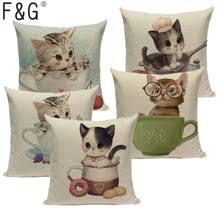 Модный <b>Чехол на подушку с</b> милыми животными, чехол для ...