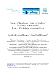 publication pdf impact of facebook usage on students academic publication pdf impact of facebook usage on students academic achievement role of self regulation and trust