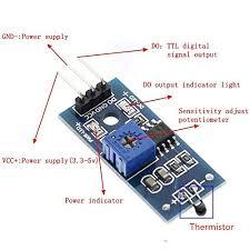 Digital High Sensitivity NTC <b>Thermal</b> Thermistor <b>Sensor Module</b> for ...