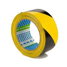 <b>Клейкая</b> сигнальная <b>лента Folsen</b> 50ммx33м желто-чёрная PVC ...