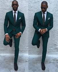 Newest <b>Groomsmen Dark</b> Green <b>Groom Tuxedos</b> Big Peak Lapel ...