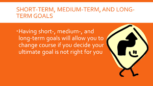 developing a career plan chapter what you will learn how 9 short term medium term and long term goals 61600 having short medium and long term goals will allow you to change course if you decide your ultimate