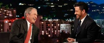 george w bush tells jimmy kimmel the best humor is when you photo george w bush jokes jimmy kimmel on jimmy kimmel live