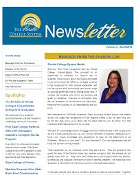 newsletters the florida college system thumbnail of the florida college system newsletter